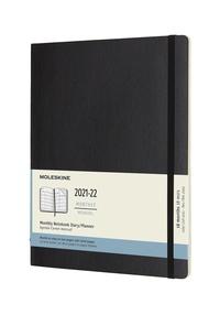Měsíční diář Moleskine 2021-2022 měkký černý XL
