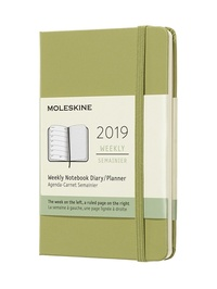 Plánovací zápisník Moleskine 2019 tvrdý zelený S