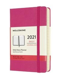 Diář Moleskine 2021 denní tvrdý růžový S