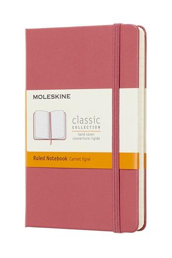Zápisník Moleskine tvrdý linkovaný růžový S