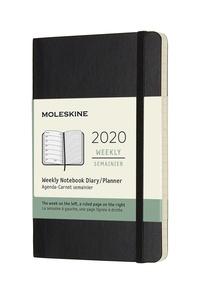 Plánovací zápisník Moleskine 2020 měkký černý S