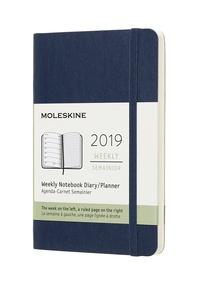 Plánovací zápisník Moleskine 2019 měkký modrý S