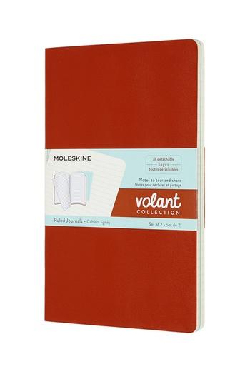 Volant zápisníky Moleskine 2 ks linkovaný oranžový a modrý L