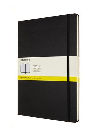 Zápisník Moleskine tvrdý čtverečkovaný černý A4