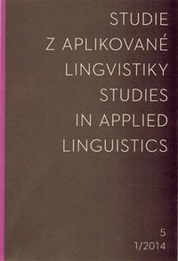 Studie z aplikované lingvistiky 1/2014