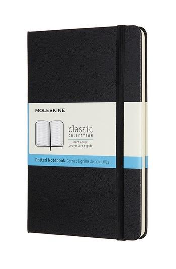 Zápisník Moleskine tvrdý tečkovaný černý M