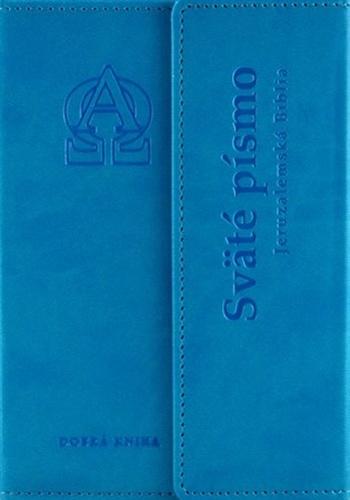 Sväté písmo. Jeruzalemská Biblia (malý formát) tyrkysová obálka s reliéfom