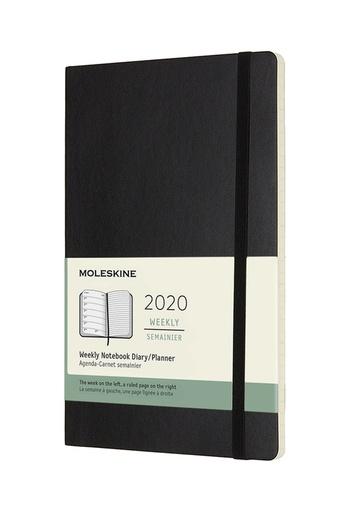 Plánovací zápisník Moleskine 2020 měkký černý L