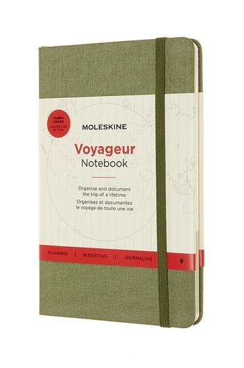 Zápisník Moleskine Voyageur zelený