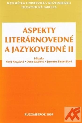 Aspekty literárnovedné a jazykovedné II