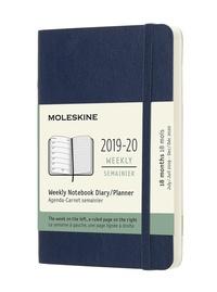 Plánovací zápisník Moleskine 2019-2020 měkký modrý S