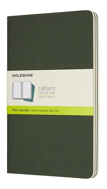 Sešity Moleskine 3 ks čisté zelené L