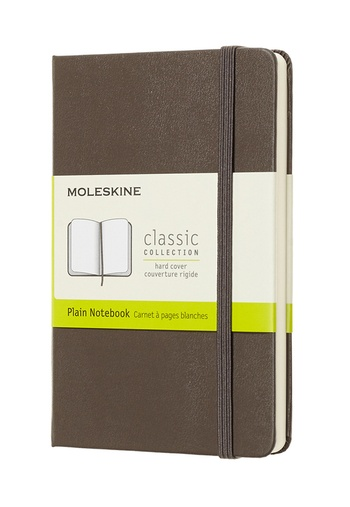 Zápisník Moleskine tvrdý čistý hnědý S