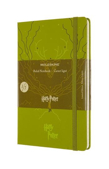 Harry Potter zápisník Moleskine linkovaný světle zelený L