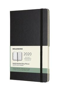 Plánovací zápisník Moleskine 2020 tvrdý černý L