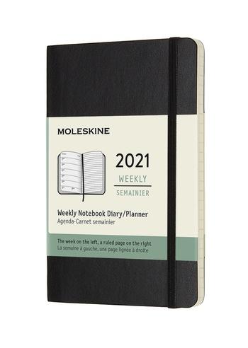 Plánovací zápisník Moleskine 2021 měkký černý S