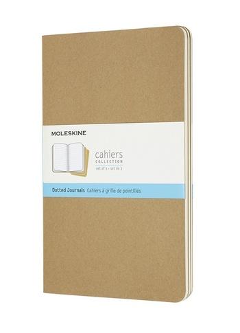 Sešity Moleskine 3 ks tečkované karton L