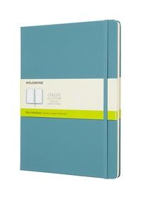 Zápisník Moleskine tvrdý čistý modrozelený XL