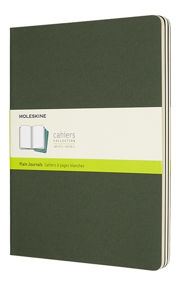 Sešity 3 ks čisté zelené XL