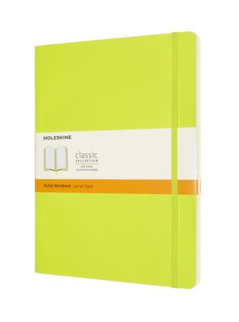 Zápisník Moleskine měkký linkovaný žlutozelený XL