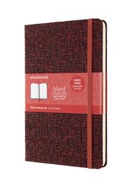 Blend zápisník Moleskine linkovaný červený L