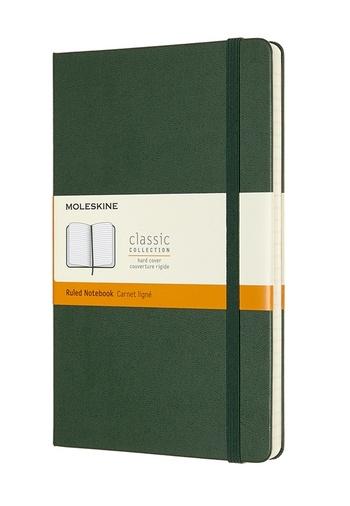 Zápisník Moleskine tvrdý linkovaný zelený L