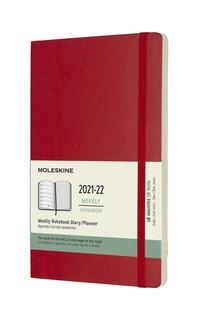 Plánovací zápisník Moleskine 2021-2022 měkký červený L