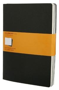 Sešity 3 ks, linkovaný, černý XL
