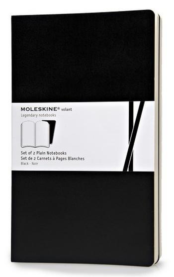 Volant zápisníky 2 ks, čistý, černý L