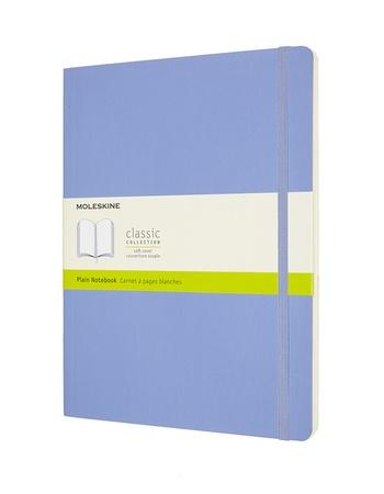 Zápisník Moleskine měkký čistý světle modrý XL
