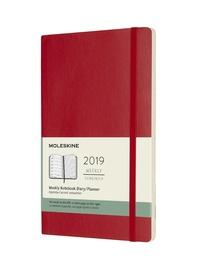 Plánovací zápisník Moleskine 2019 měkký červený L