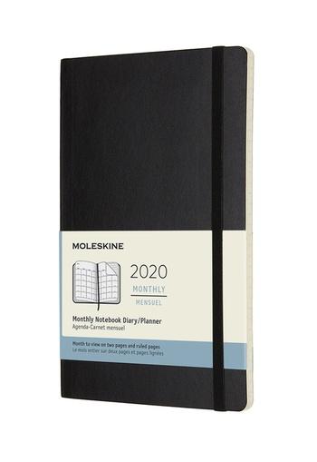 Měsíční diář Moleskine 2020 měkký L
