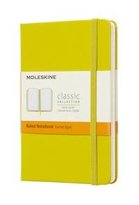 Zápisník Moleskine tvrdý linkovaný žlutý S