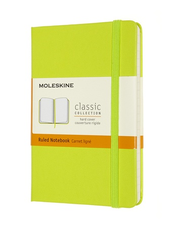 Zápisník Moleskine tvrdý linkovaný žlutozelený S
