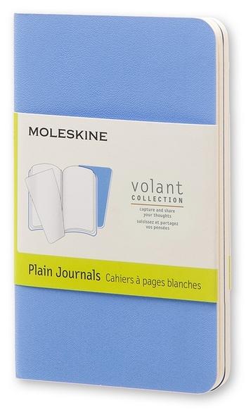 Volant zápisníky 2 ks čisté světle modré XS