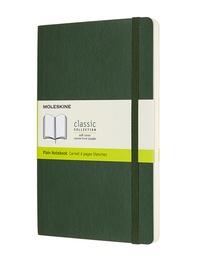 Zápisník Moleskine měkký čistý zelený L