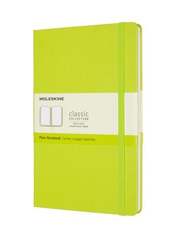 Zápisník Moleskine tvrdý čistý žlutozelený L