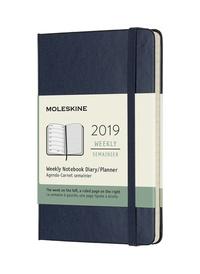 Plánovací zápisník Moleskine 2019 tvrdý modrý S