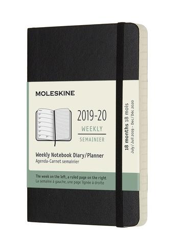 Plánovací zápisník Moleskine 2019-2020 měkký černý S