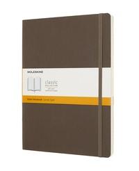 Zápisník Moleskine měkký linkovaný hnědý XL