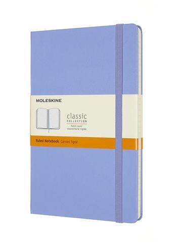 Zápisník Moleskine tvrdý linkovaný světle modrý L
