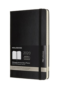 Vertikální diář Moleskine 2020 tvrdý L