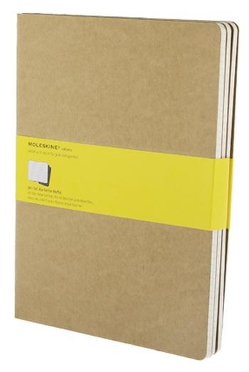 Sešity 3ks, čtverečkované, karton XL