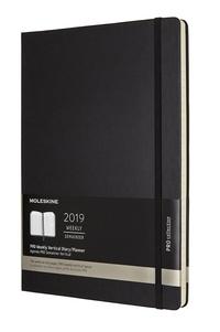 Vertikální diář Moleskine 2019 tvrdý A4
