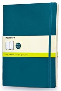 Zápisník měkký čistý, světle modrý XL