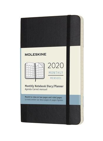 Měsíční diář Moleskine 2020 měkký S