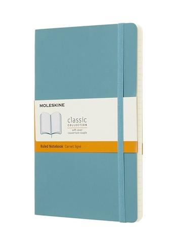 Zápisník Moleskine měkký linkovaný modrozelený L