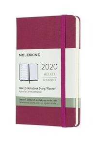 Plánovací zápisník Moleskine 2020 tvrdý růžový S