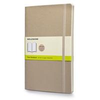 Zápisník, čistý, měkký béžový L