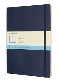 Zápisník měkký tečkovaný modrý XL